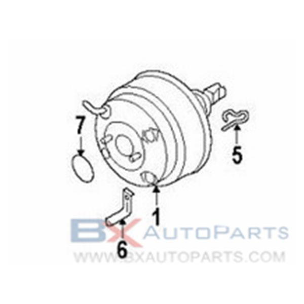 58610 26051 58610 26000 Brake Booster For 2004 Hyundai Santa Fe